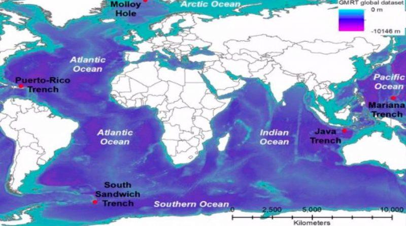Medidos los puntos más profundos de los océanos Índico y Austral: 7,187 y 7,432 metro, en ese orden