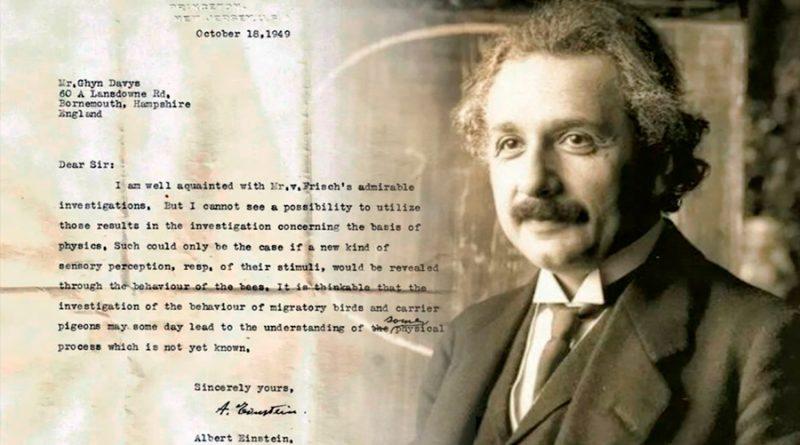 Descubren carta perdida de Einstein que predijo los supersentidos animales