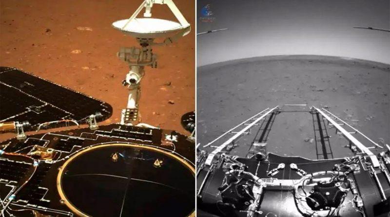Primeras imágenes del rover chino Zhurong en la superficie de Marte