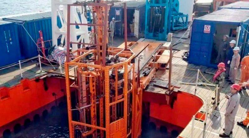 China bate récord mundial de perforación en el océano profundo: 231 metros bajo el lecho marino