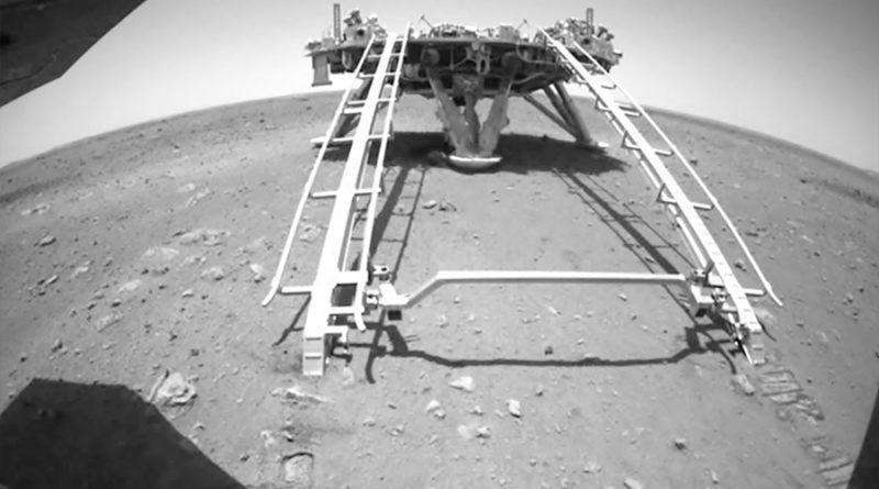 Rover chino Zhurong recorre superficie de Marte por primera vez