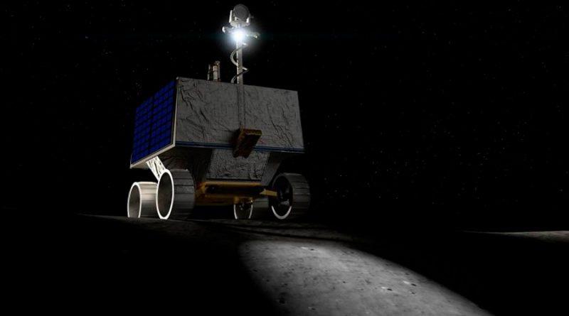 Un róver de la Nasa usará faros para buscar agua en cráteres lunares