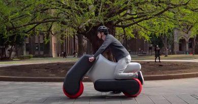científicos japoneses apuestan por los vehículos inflables como el futuro de la movilidad