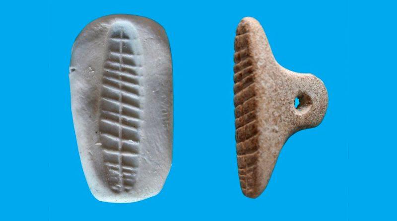 Evidencia de sellos para marcar envíos o precintar de hace 7 mil años