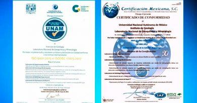 Obtiene laboratorio de la UNAM certificado internacional y reconocimiento de calidad