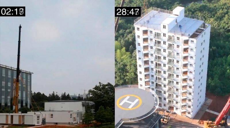Un increíble vídeo nos muestra cómo en China construyen un edificio de 10 pisos en un día