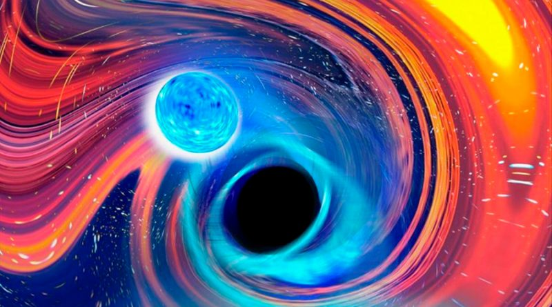 Detectan por vez primera fusión de agujero negro y estrella de neutrones