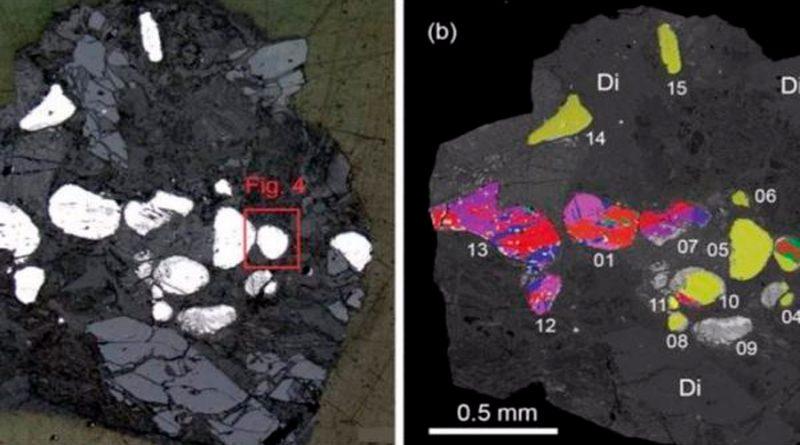 Un mineral solo visto en meteoritos existe en rocas del Mar Muerto