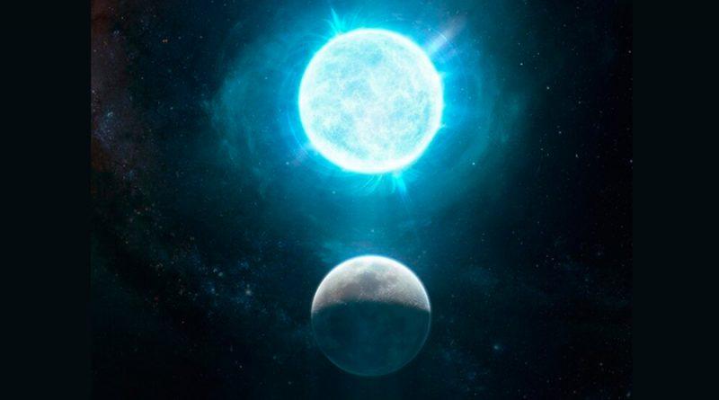 Descubren una estrella del tamaño de la Luna con una masa superior a la del Sol