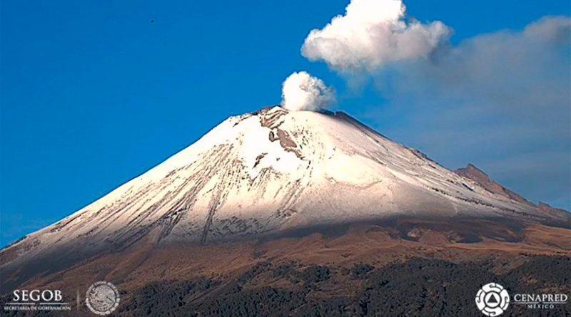 Volcán Popocatépetl presenta 87 exhalaciones y cinco horas de tremor
