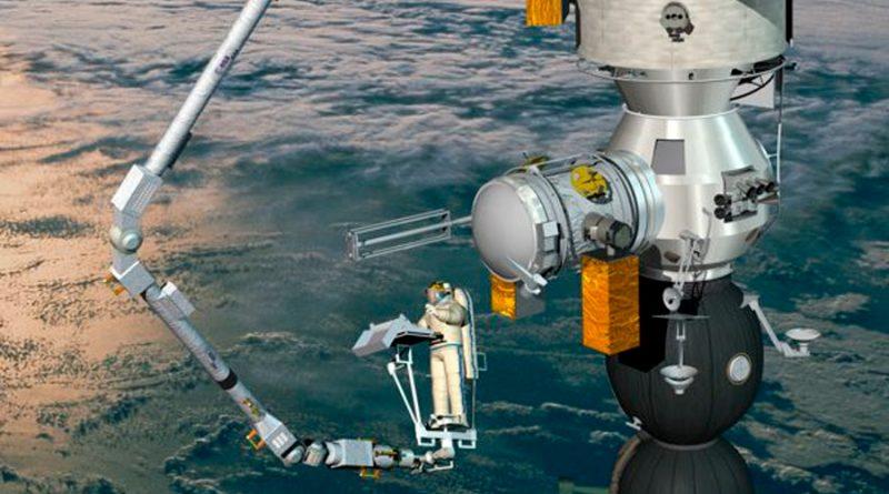 """Un brazo capaz de """"caminar en el espacio"""" será enviado a la Estación Espacial Internacional"""