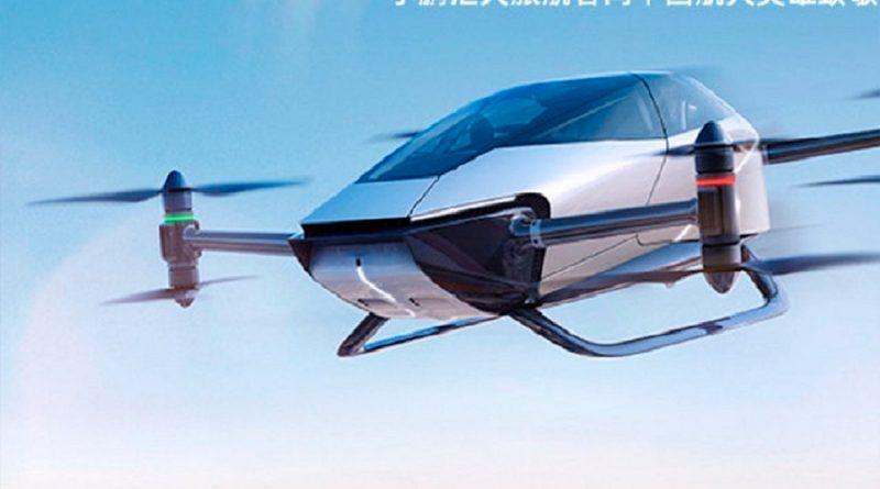 China lanza auto volador impulsado por energía eléctrica