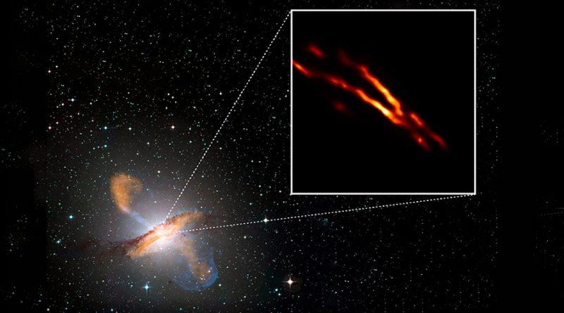 El EHT señala el corazón oscuro de la radiogalaxia más cercana
