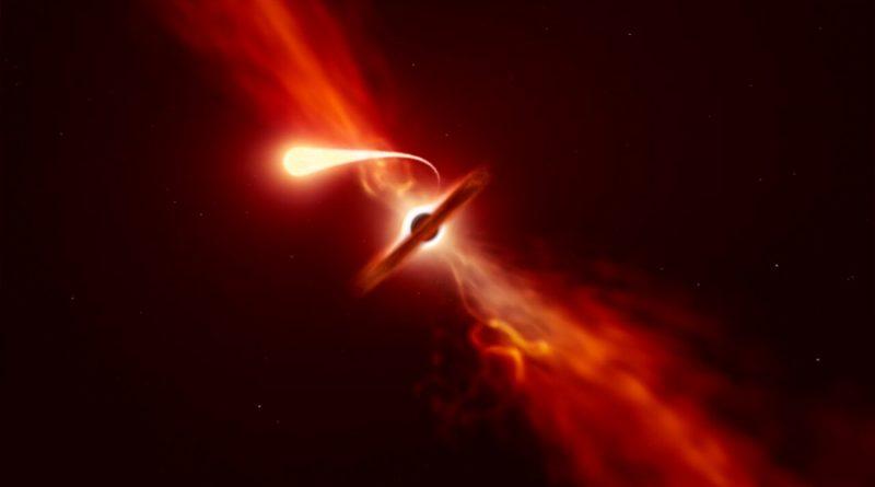 ¡Inédito! Descubren rayo de luz detrás de un agujero negro supermasivo