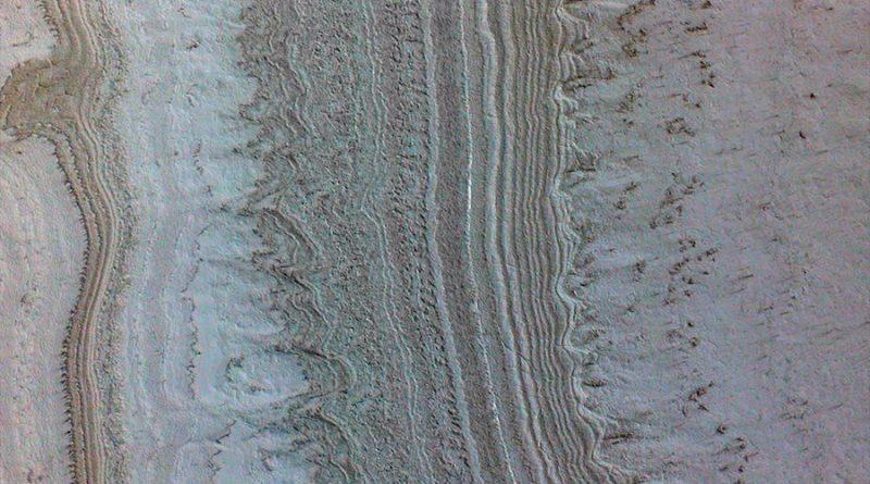 """Arcillas, no agua, son la fuente probable de los """"lagos"""" de Marte"""