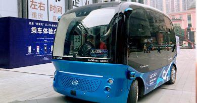 Autobuses eléctricos autónomos recorren las calles de China