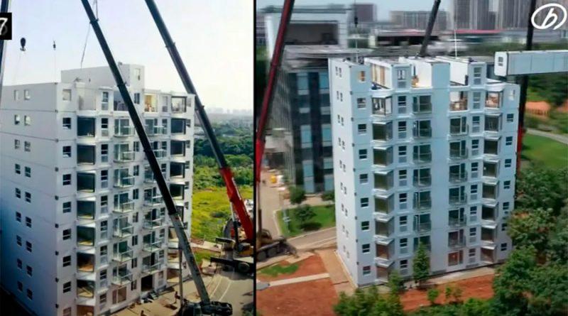 Así se construye en China un edificio de 10 pisos en poco más de 24 horas [VIDEO]