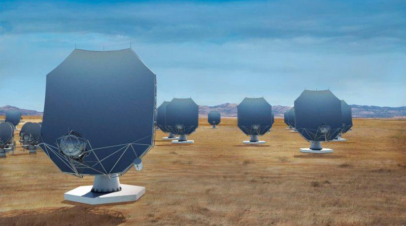 Un nuevo radiotelescopio con 263 antenas toma forma en Norteamérica