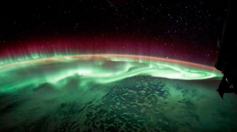 Así se ve la aurora austral desde la Estación Espacial Internacional