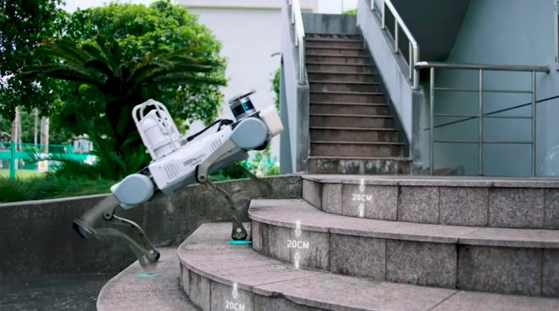China desvela su primer perro robot impermeable de grado industrial