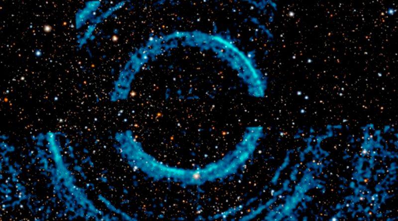 Descubren conjunto de anillos alrededor de un agujero negro