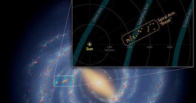 Captado un espolón en uno de los brazos espirales de la Vía Láctea