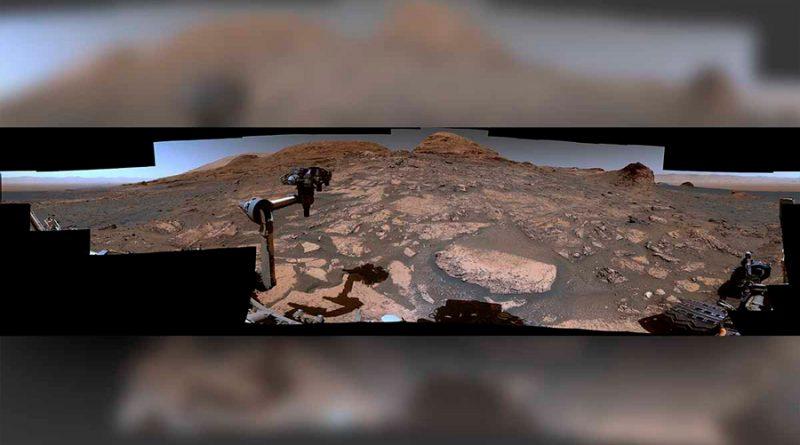Increíble vista panorámica de Marte que tomó la NASA desde lo alto de un monte marciano