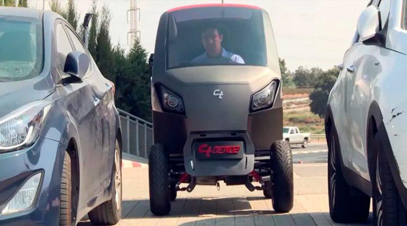 CT, el coche eléctrico que se encoge para aparcar en el espacio de una moto