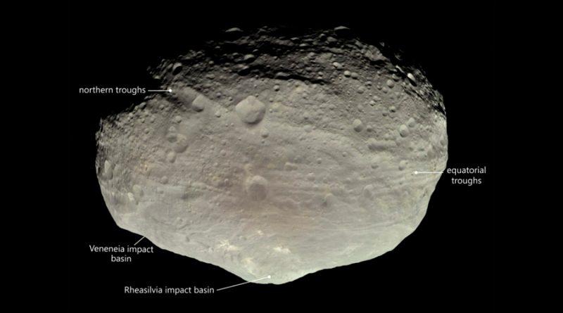 Explican los misteriosos valles de Vesta, el segundo asteroide más grande del Sistema Solar