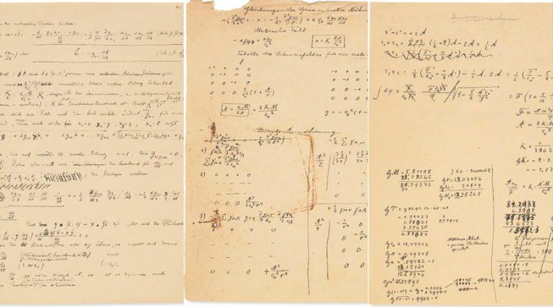 Subastarán manuscrito de Einstein sobre la teoría de la relatividad