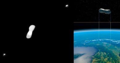Nuevas imágenes del asteroide Cleopatra y sus dos 'hijos'
