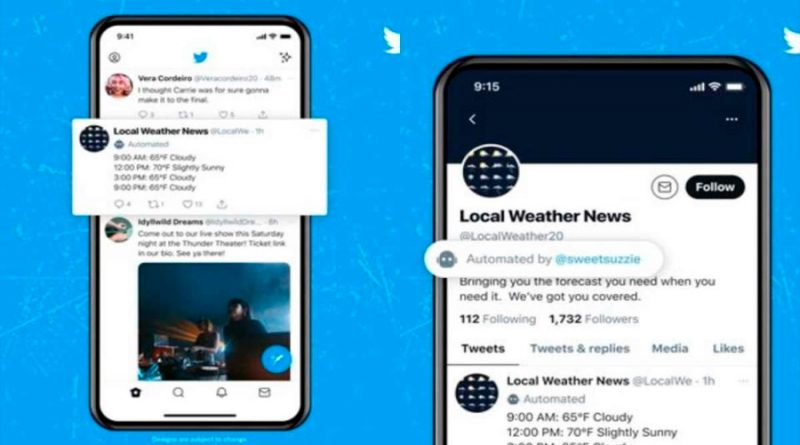 Twitter identifica las cuentas automatizadas o 'bots' que publican en al red social