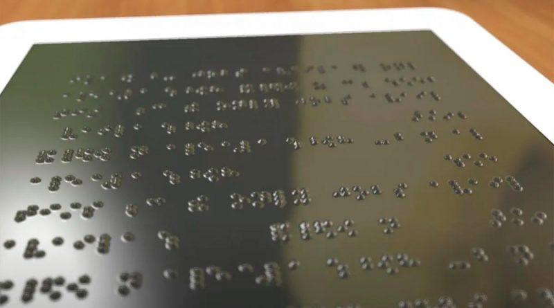 Pantallas con interfaz braille interactiva a base de miniexplosiones