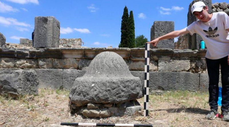 Piedras de molienda de la era romana se elegían por su geología