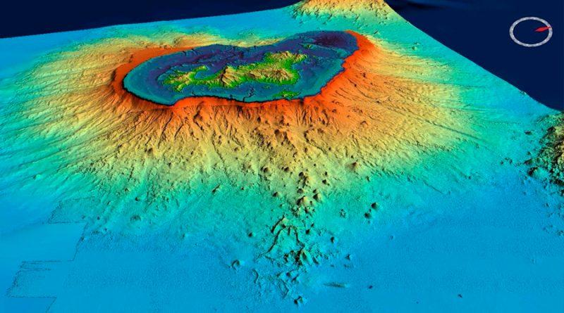 Detectaron el volcán submarino más grande jamás registrado en la costa de Madagascar