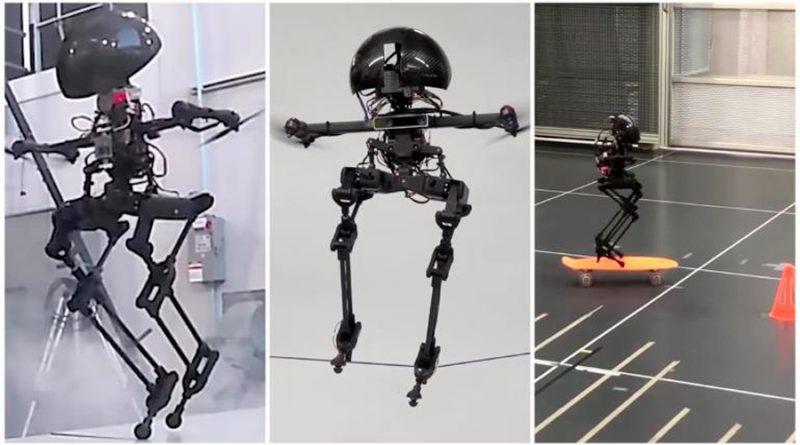 Conoce a LEO, el robot que sube a la cuerda floja y al monopatín
