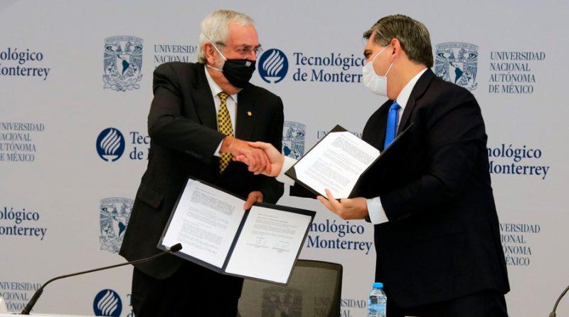Se unen el Tec de Monterrey y UNAM: crean consorcio de investigación