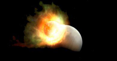 Descubren un planeta que perdió su atmósfera por un gigantesco impacto